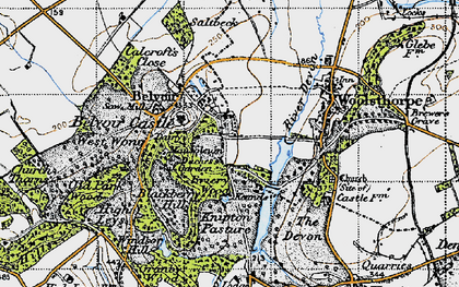 Old map of Belvoir in 1946