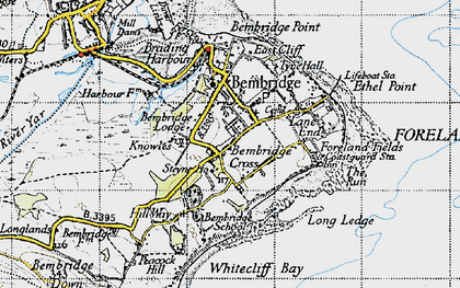 Old map of Bembridge in 1945