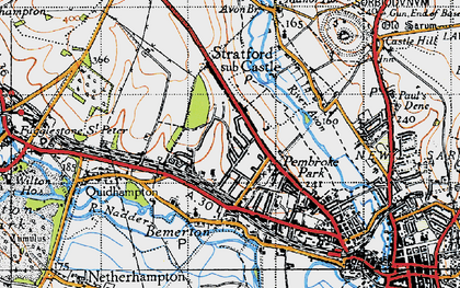 Old map of Bemerton Heath in 1940
