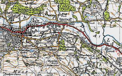 Old map of West Park Wood in 1947