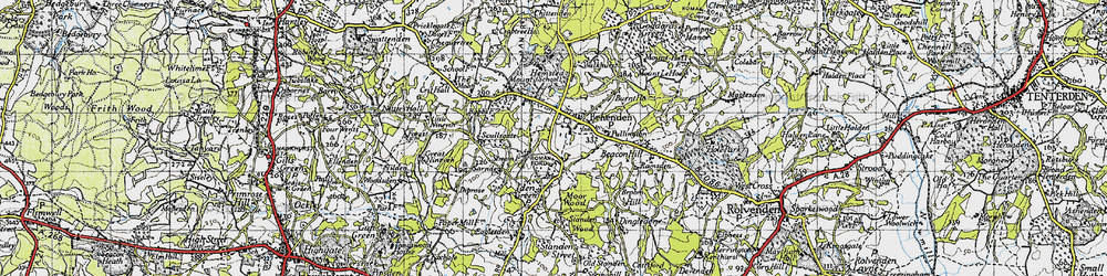 Old map of Benenden in 1940