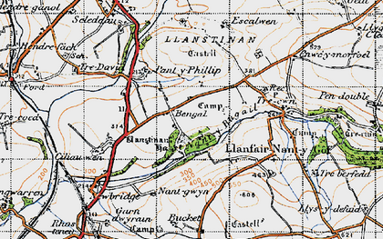 Old map of Afon Cleddau in 1946