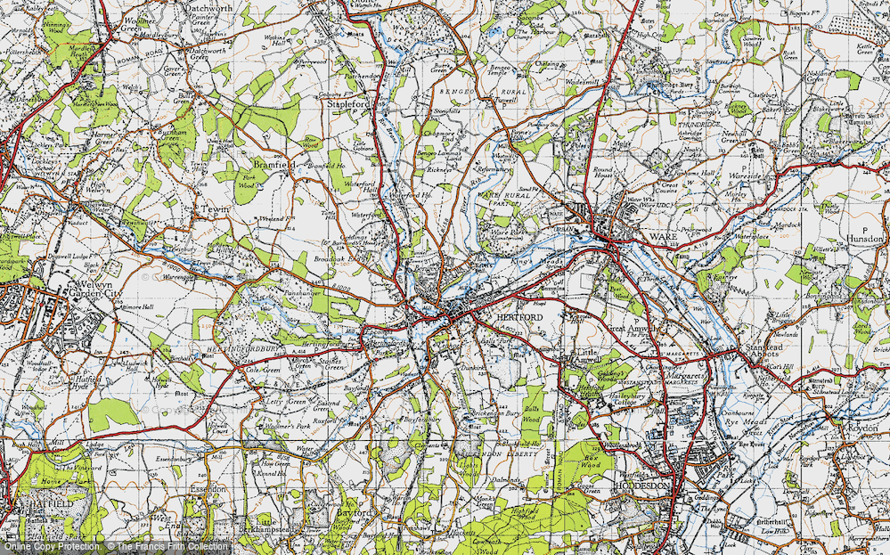 Old Map of Bengeo, 1946 in 1946