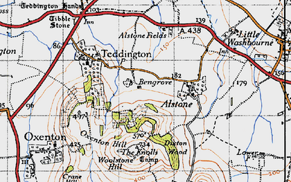 Old map of Bengrove in 1946