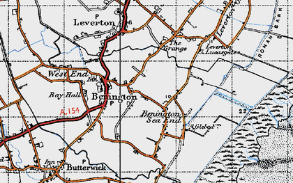 Old map of Benington Sea End in 1946