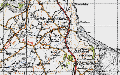 Old map of Benllech in 1947