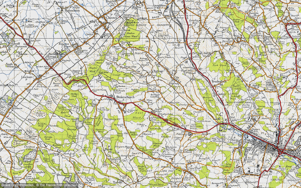 Old Map of Bennett End, 1947 in 1947