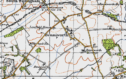 Old map of Benniworth in 1946