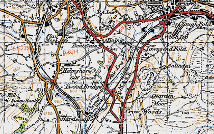 Old map of Bent Gate in 1947