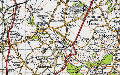 Old map of Benter in 1946