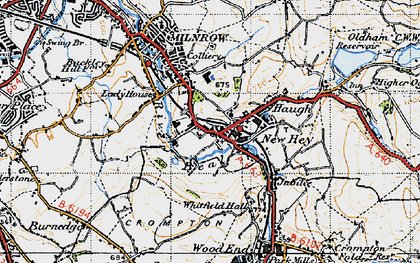 Old map of Bentgate in 1947