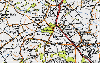 Old map of Ashwells in 1946
