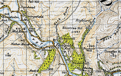 Old map of Westerkirk Mains in 1947