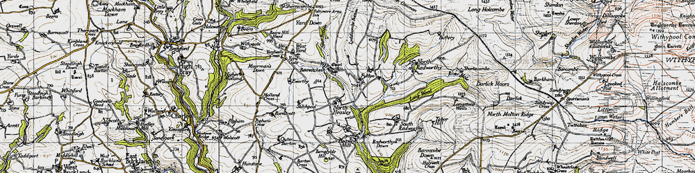 Old map of West Yarde in 1946