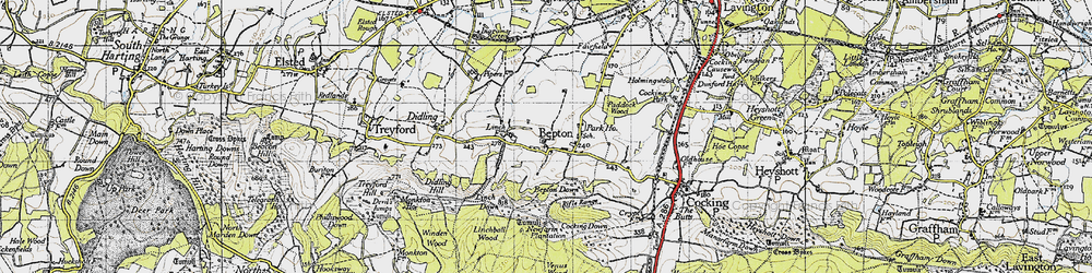 Old map of Bepton in 1945
