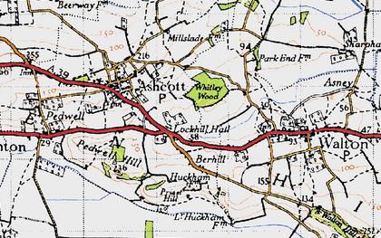 Old map of Berhill in 1946
