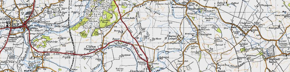 Old map of Berinsfield in 1947