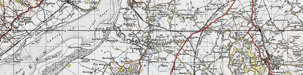 Old map of Wickselm in 1946
