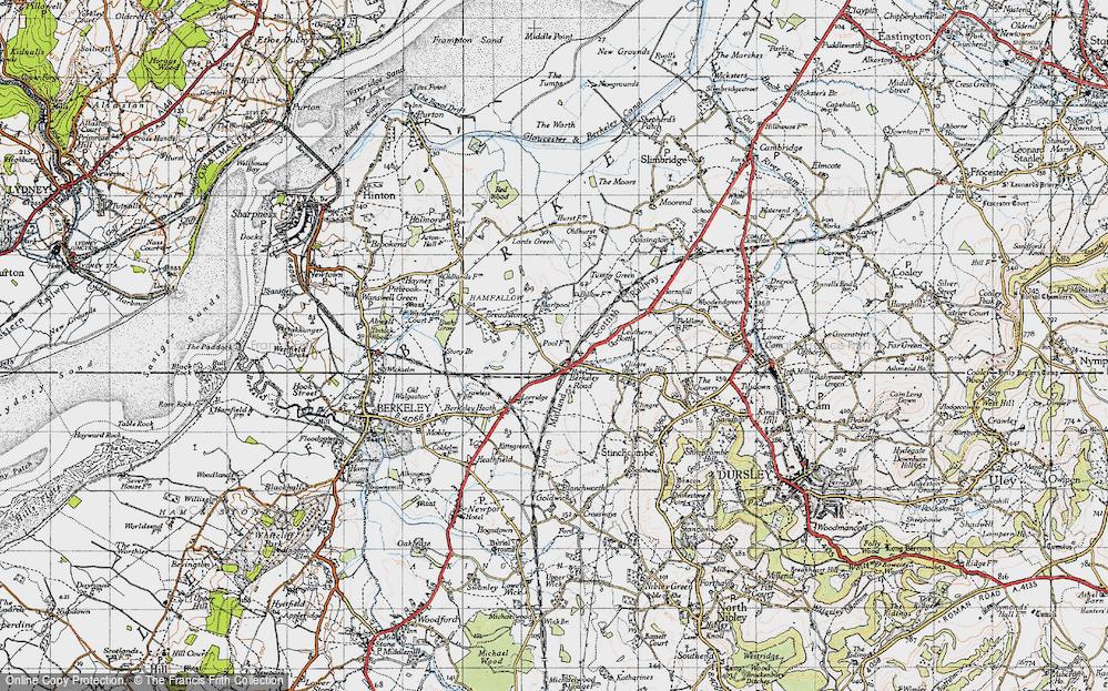 Old Map of Berkeley Road, 1946 in 1946