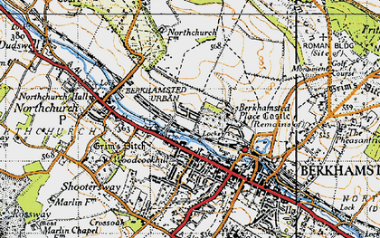 Old map of Berkhamsted in 1946
