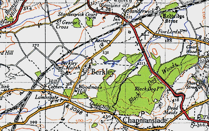 Old map of Woodman's Hill in 1946