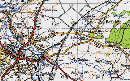 Old map of Berkley Down in 1946