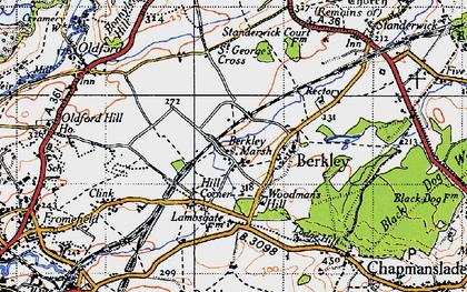 Old map of Berkley Marsh in 1946