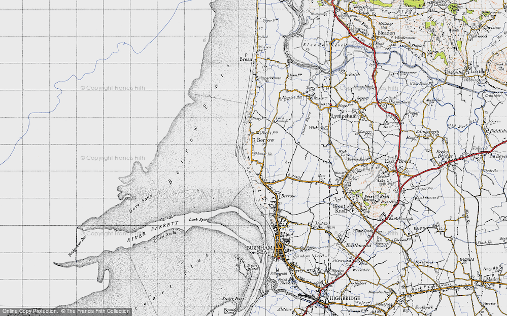 Old Map of Historic Map covering Lark Spit in 1946