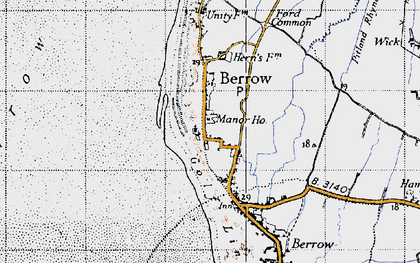 Old map of Berrow in 1946