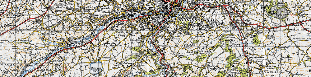 Old map of Berry Brow in 1947