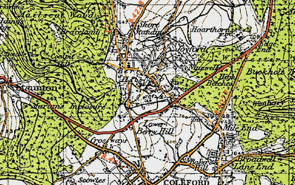 Old map of Berry Hill in 1946