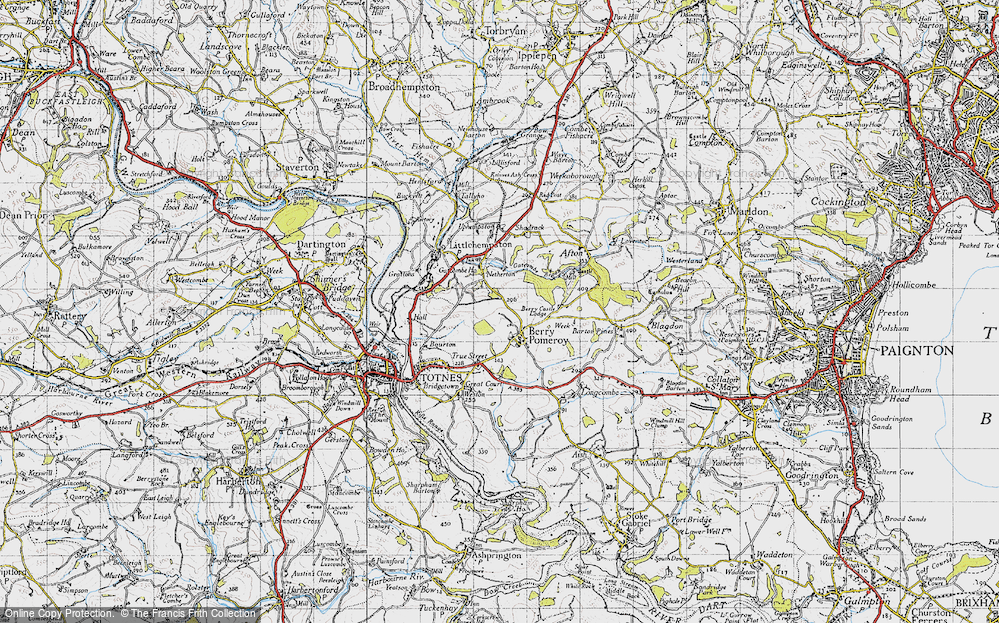 Old Map of Berry Pomeroy, 1946 in 1946