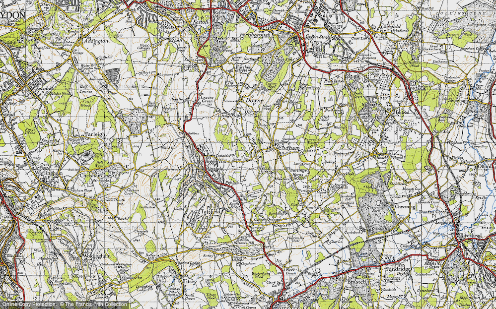 Old Map of Berry's Green, 1946 in 1946