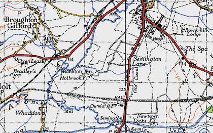 Old map of Berryfield in 1940