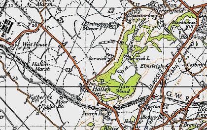 Old map of Berwick in 1946