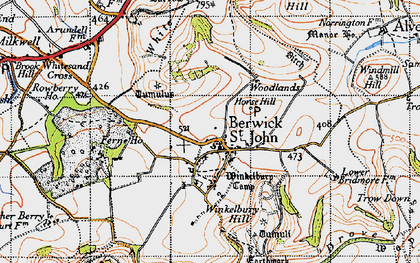 Old map of Winkelbury in 1940