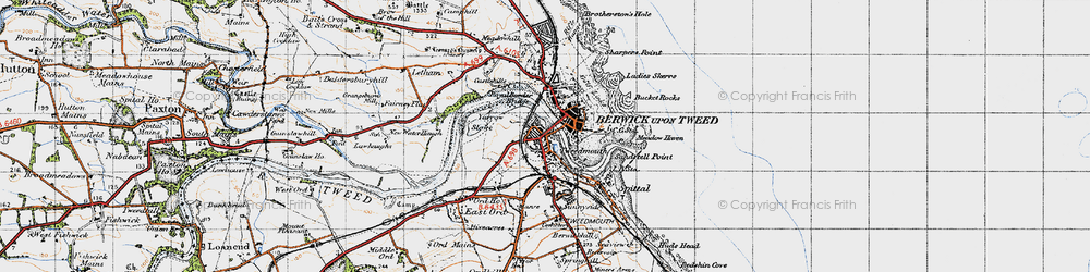 Old map of Yarrow Slake in 1947