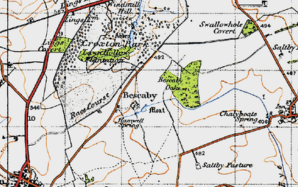 Old map of Bescaby in 1946