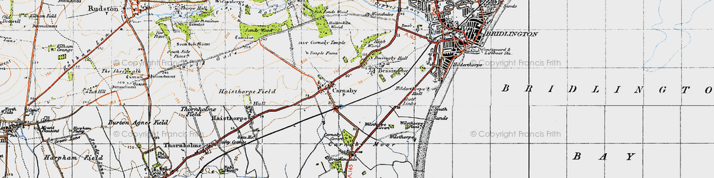 Old map of Bessingby in 1947