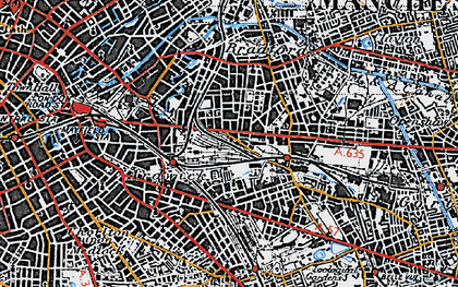 Old map of Beswick in 1947
