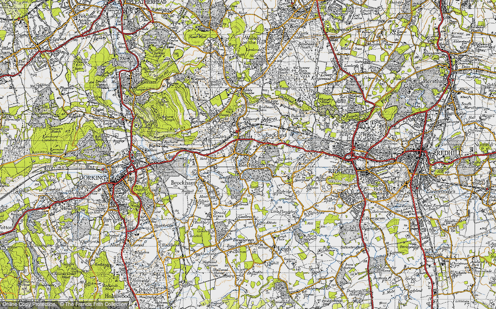 Old Map of Betchworth, 1940 in 1940