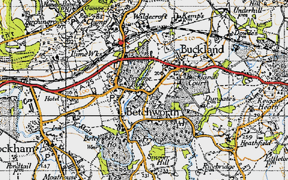 Old map of Betchworth in 1940
