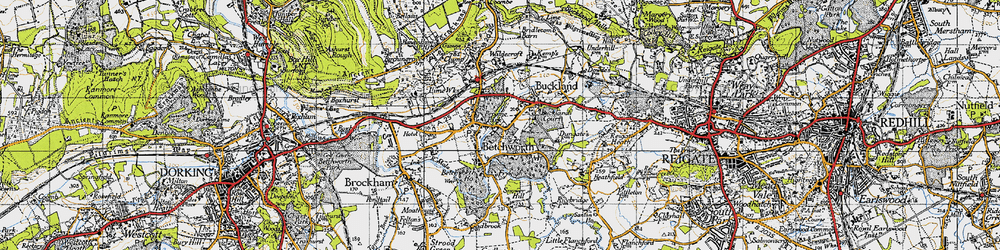 Old map of Wildecroft in 1940