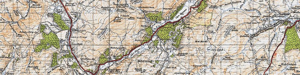 Old map of Afon Gorsen in 1947