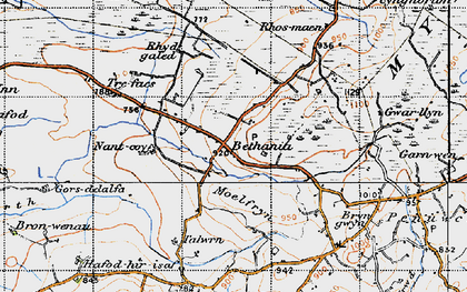 Old map of Bethania in 1947