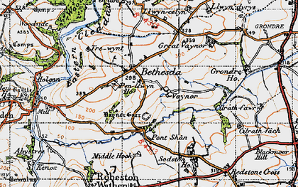 Old map of Bethesda in 1946