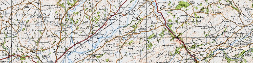 Old map of Y Caer fawr in 1947