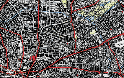 Old map of Bethnal Green in 1946