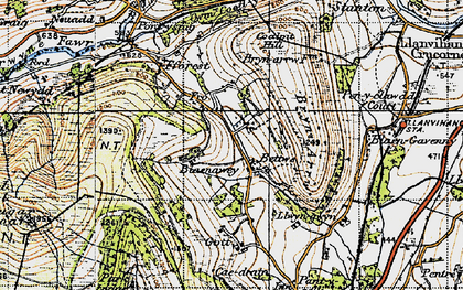 Old map of Bettws in 1947