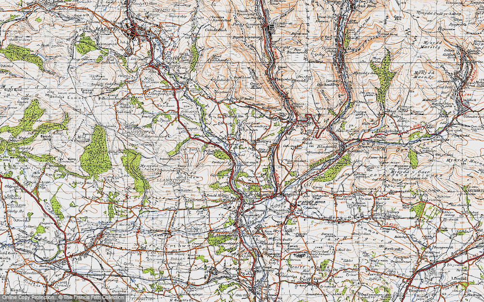 Old Map of Bettws, 1947 in 1947